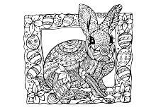 Osterei mit Schmetterling | Ostern-Ausmalbilder | Pinterest | Php