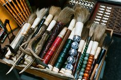 Old Antique Chinese brushes