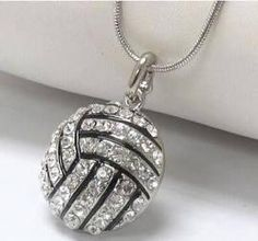 Fun volleyball necklace.