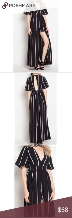 Striped Romper Dress Gorgeous Striped Romper Dress  I have one size small and one size large Pants Jumpsuits & Rompers