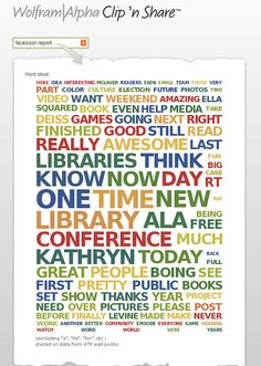 my Facebook word cloud, as produced by Wolfram Alpha | Flickr - Photo Sharing!