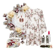 """Flowers #60"" by elsakurppa ❤ liked on Polyvore featuring Lene Bjerre, Miss Selfridge, Givenchy, Dr. Martens, Monsoon, Alexander McQueen and Flowers"