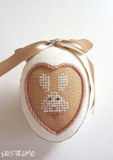 I just finished one of these and it was easy and so precious. Scraps work for cross stitch. Outer ivory aida cut on bias. Small Cross Stitch, Cross Stitch Finishing, Cross Stitch Baby, Cross Stitch Designs, Cross Stitch Patterns, Cross Stitching, Cross Stitch Embroidery, Hand Embroidery, Hoppy Easter