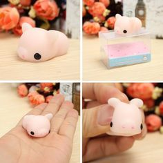 Mochi Pink Piggy Squishy Squeeze Pig Cute Healing Toy Kawaii Collection Stress Reliever Gift Decor