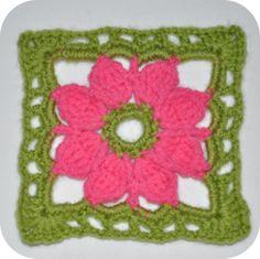 Crochet Pattern Granny flower