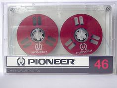 Pioneer red metal reels cassette tape