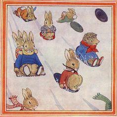 Little Grey Rabbit's Christmas - Margaret Tempest Illustration.