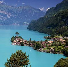 Iseltwald. Lake Brienz. Switzerland. The water really is gorgeous like this!