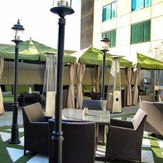 Private cabanas at Rooftop 866 bar in Midtown, Atlanta #nightlife