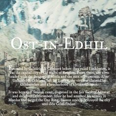 Ruins of Middle-earth: Ost-in-Edhil #TheLordOfTheRings