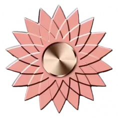 ZHAOYAO Lotus Shaped Finger Toy Hand Spinner - Rose Gold with Free Shipping