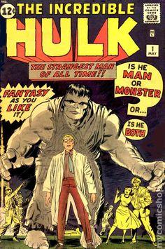 The Hardcover of the Marvel Masterworks: The Incredible Hulk Vol. 1 (New Printing) by Stan Lee, Jack Kirby, Steve Ditko Hulk 1, Hulk Comic, Comic Book Superheroes, Hulk Marvel, Marvel Comic Books, Comic Books Art, Comic Art, Book Art, Spiderman
