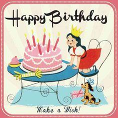 """Parce qu'il est toujours très plaisant de recevoir une surprise dans sa boîte aux lettres, voici une jolie carte inspirée des illustrations des années 70 pour lui souhaiter un joyeux anniversaire. Une création bien sympathique signée des éditeurs anglais Rex. 1,90 € <a href=""""http://www.lafolleadresse.com/cartes/578-carte-d-anniversaire-petite-fille.html"""" rel=""""nofollow"""" target=""""_blank"""">www.lafolleadress...</a>"""