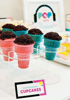 DIY Microphone Cupcakes - Pop Star Party