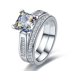 Conscientious 1 Ct Radiant Cut Center Halo Ring Top Russian Aaaaa Quality Cz Ss Size 9 Other Fine Rings