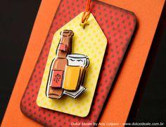 Tema Boteco da Cerveja - Ficha Técnica:  Formato: 10cm (Largura) X 15cm (Altura).  Acabamento: Projeto desenvolvido através da técnica de escultura em papel e furadores com efeitos tridimensionais (3D), com detalhes na parte interna do convite em ilhoses de alumínio na cor cobre e na parte externa ilhós de alumínio em formato de estrela na cor amarela com detalhe em cordão na cor laranja .