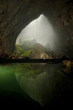 Son Doong cave in Vietnam. It's over 5.5 miles long and can house a 40-story building. Did I mention there's a forest in there?