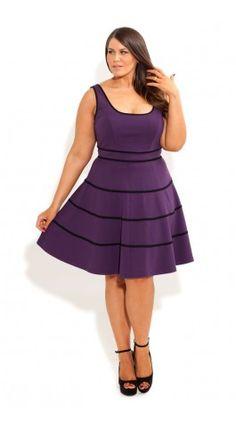 Plus Size Swing Skater Dress - City Chic - City Chic, #plussize