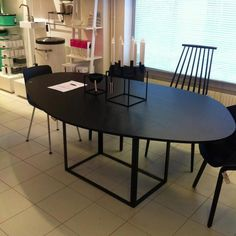 Skivans organiska f. Omni is a table by the designer and article Max Gerthel. The organic form of the board is a work of art in itself whi A Table, Dining Table, Conference Table, Organic Form, Desk, Stunningly Beautiful, Room, Leaves, Furniture
