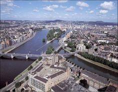 Liège, Belgique - confluent de la Meuse, de l'Ourthe et de la Dérivation