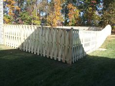 Speciality wood fence  6' high vertical Basket Weave   Beitzell Fence
