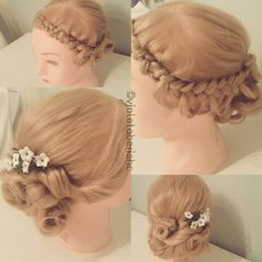 #romantic #hair #style #updo #cute #longhair