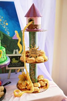rapunzel tangled party ideas - Yahoo Search Results Yahoo Image Search ResultsYou can find Tangled party and more on our website. Rapunzel Birthday Party, Disney Princess Birthday, 4th Birthday Parties, Birthday Party Decorations, Girl Birthday, Tangled Party Decorations, Fairytale Birthday Party, Tinkerbell Party, Party Centerpieces