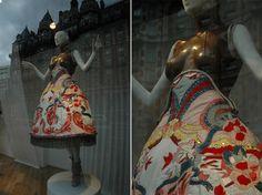 Alexander McQueen window at Harvey Nichols