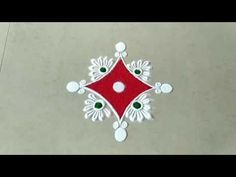 Simple and Easy colourful rangoli design using bangles Easy Rangoli Patterns, Easy Rangoli Designs Videos, Simple Rangoli Border Designs, Easy Rangoli Designs Diwali, Rangoli Simple, Rangoli Designs Latest, Rangoli Designs Flower, Free Hand Rangoli Design, Small Rangoli Design