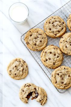 Stuffed Peanut Butter Chocolate Chip Cookies (Love & Olive Oil)