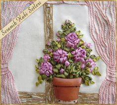 Kits de cerámica Hobby - rosas de cerámica - pintura en madera - objetos de cerámica para el bordado de la cinta: la cinta del bordado Aplicaciones-3