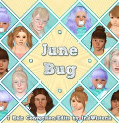 """inkwisteria:  """"  """"June Bug: 7 Hairs Conversions/Edits by InkWisteria  """"  *gentle wave*  Hello all! I'm still alive. I know I'm awfully quiet on this blog, but trust me - I'm still playing and still following you lovely people. :)  Anyway! More..."""