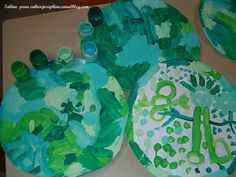 for mixing greens, circle shape=different