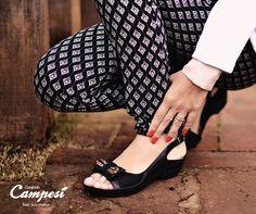 Para sair ou para trabalhar, uma sandália bonita e confortável é fundamental.
