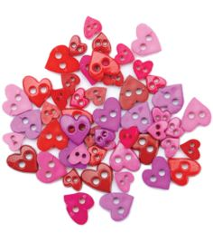 Favorite Findings Mini Shaped Buttons-Pretty Hearts 49/pkgFavorite Findings Mini Shaped Buttons-Pretty Hearts 49/pkg,