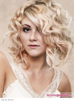 Chic Medium Loose Curly Hairstyle -- THE CURLS xxx