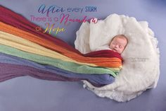 After every storm... Rainbow baby newborn photography pose by NaWink Photography Windsor ONtario