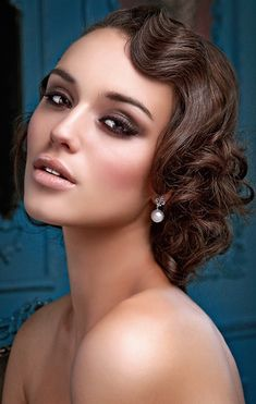 Beautiful Great Gatsby inspired finger waves and faux bob upstyle // Hair: Paula Hibbard for The Art of Hair, Makeup: Julie Elton, Photography: Justin Aveling #beauty #bride #makeup