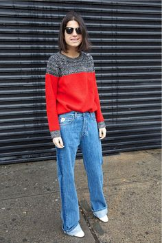 Me and My Red Sweater | Man Repeller | Leandra Medine