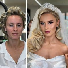 We have noticed brides look gorgeous in bridal makeup, but we don't know how they are naturally looking in daily life? Take a look at these photos of brides before and after their wedding makeup which will shock you. Becoming A Makeup Artist, Best Makeup Artist, Professional Makeup Artist, Bride Makeup, Wedding Makeup, Bride Look, The Bride, Makeup Before And After, Makeup Looks