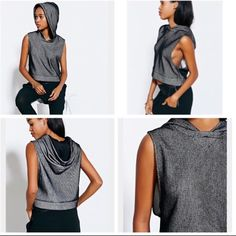 Hooded Work Out Sleeveless Top Urban Outfitters can be worn as work out gear or casual wear it looks great either way! like new condition silence + noise Tops