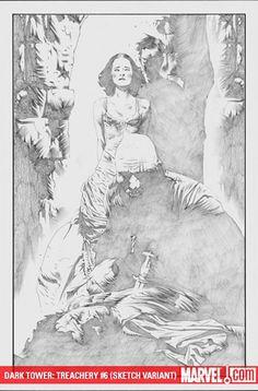 The Dark Tower: Treachery 6, Sketch Variant / Jae Lee (Artwork), Richard Isanove (Coloring)
