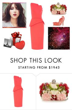"""""""Spring Beauty: Corals"""" by pinky-chocolatte ❤ liked on Polyvore featuring Roland Mouret, Alexander McQueen, Oscar de la Renta, women's clothing, women, female, woman, misses and juniors"""