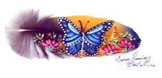 Feather Art....... Beautiful Butterfly