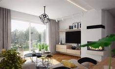 Projekt domu Focjusz 3 103,83 m2 - koszt budowy 189 tys. zł - EXTRADOM Home Technology, Garage Organization, Office Desk, Corner Desk, Windows, Curtains, House, Furniture, Home Decor