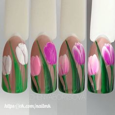 Try some of these designs and give your nails a quick makeover, gallery of unique nail art designs for any season. The best images and creative ideas for your nails. Spring Nail Art, Nail Designs Spring, Spring Nails, Summer Nails, Nail Art Designs, Nail Art Diy, Diy Nails, Cute Nails, Glam Nails