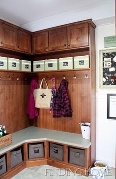 REvisited Traditional Home tour at Finding Home - Debbiedoo's Marks mudroom