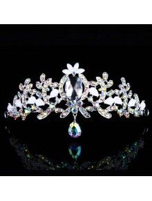 Gorgeous Alloy with Pearls and Shining Rhinestions Wedding Tiara