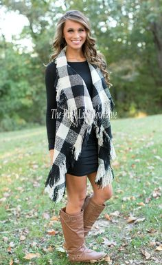 Plaid Vest For Fall!