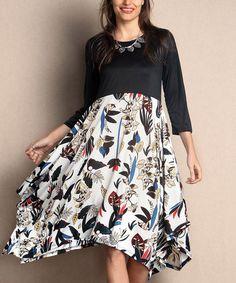 This White Floral Empire-Waist Handkerchief Dress - Plus is perfect! #zulilyfinds